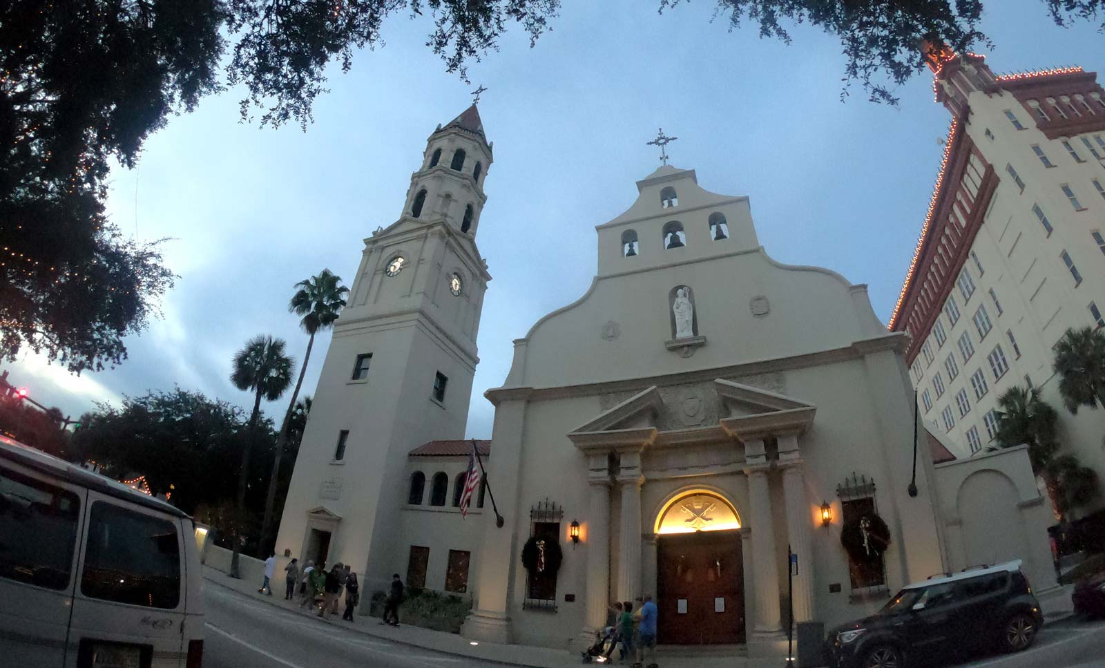 Cathedral Basilica of Saint Augustine exterior in Saint Augustine, Florida