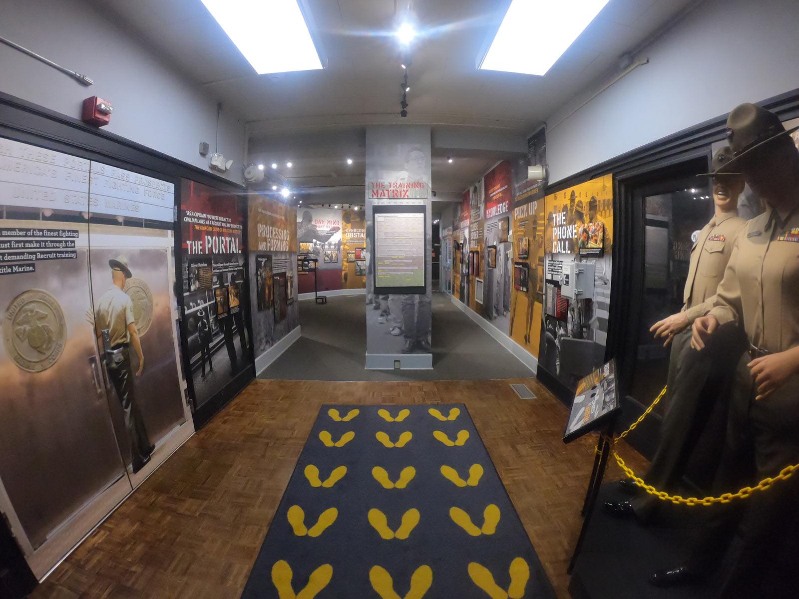 Parris Island Museum exhibit on Marine basic training, Beaufort, South Carolina