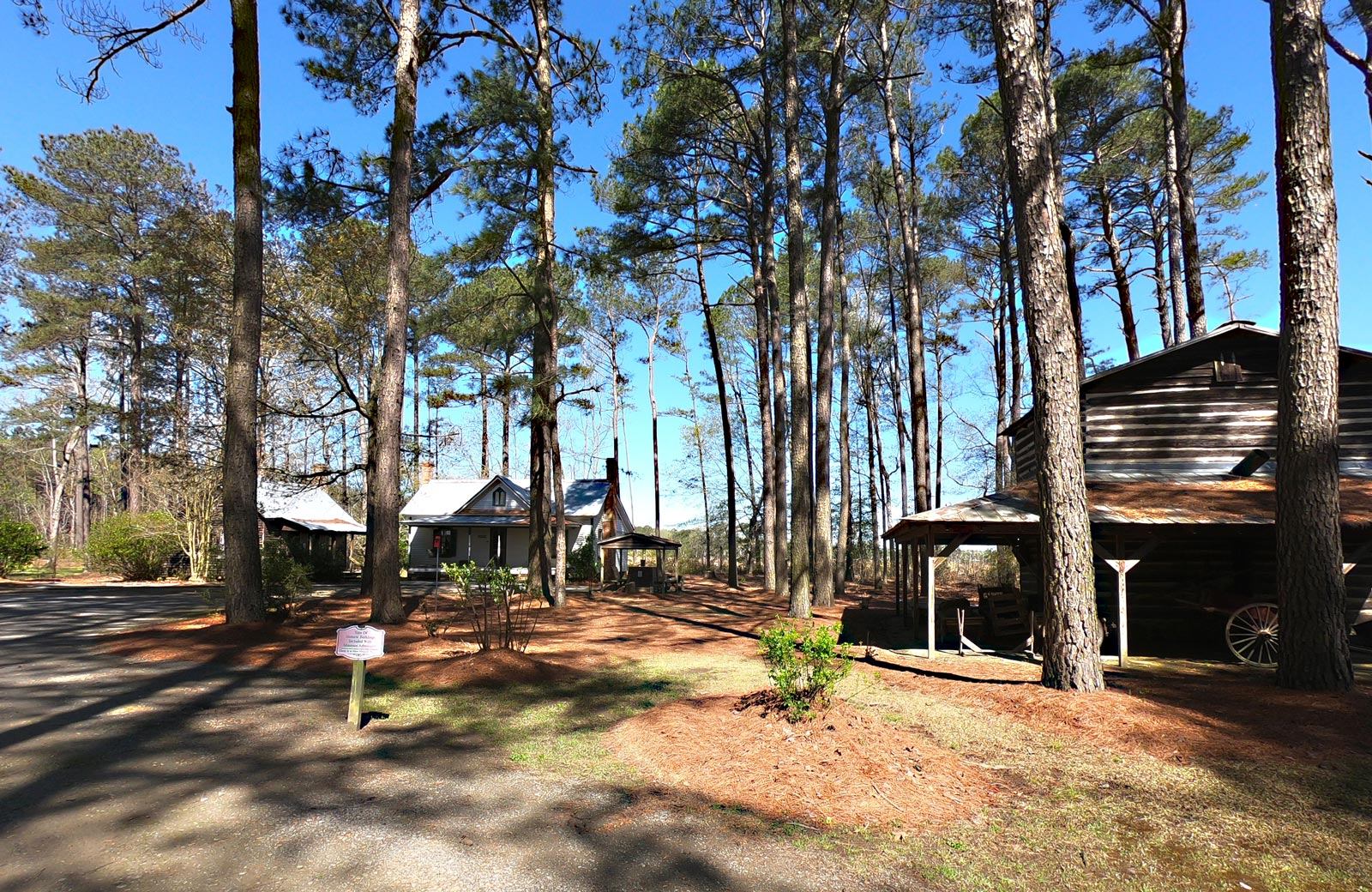 Outdoor self-guided tour of Iredell Brown Farmstead at the Tobacco Farm Life Museum, Kenly, North Carolina