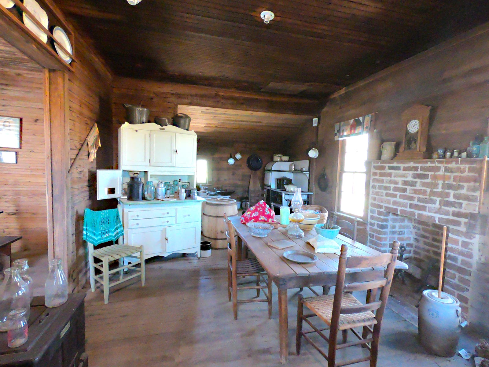 Iredell Brown Farmstead kitchen at the Tobacco Farm Life Museum, Kenly, North Carolina
