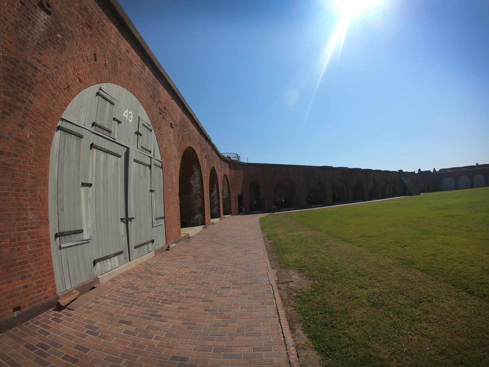 Inside the grounds of Fort Pulaski National Monument, Georgia
