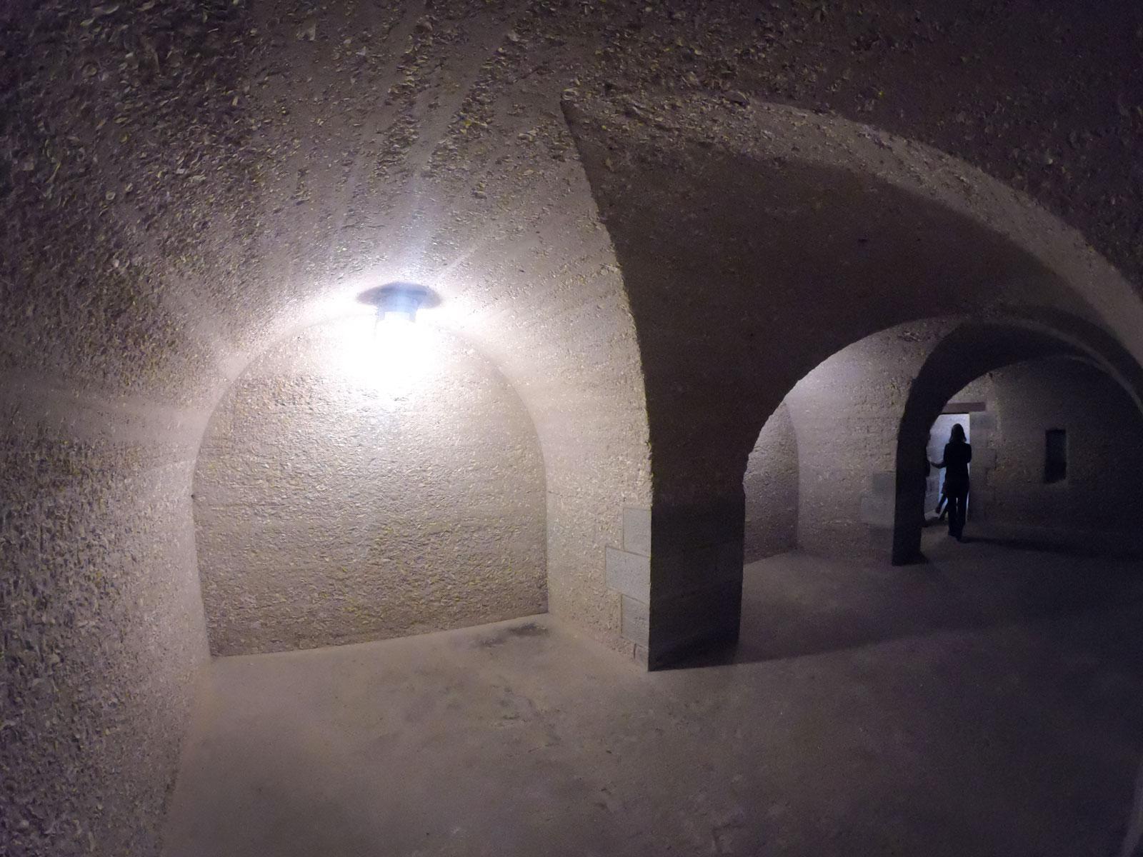 Inside arched brick room at Fort Pulaski National Monument, Georgia