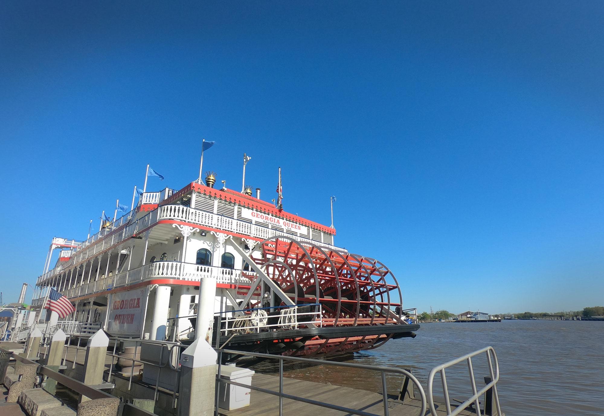 Georgia Queen riverboat on the Savannah, Georgia, riverfront