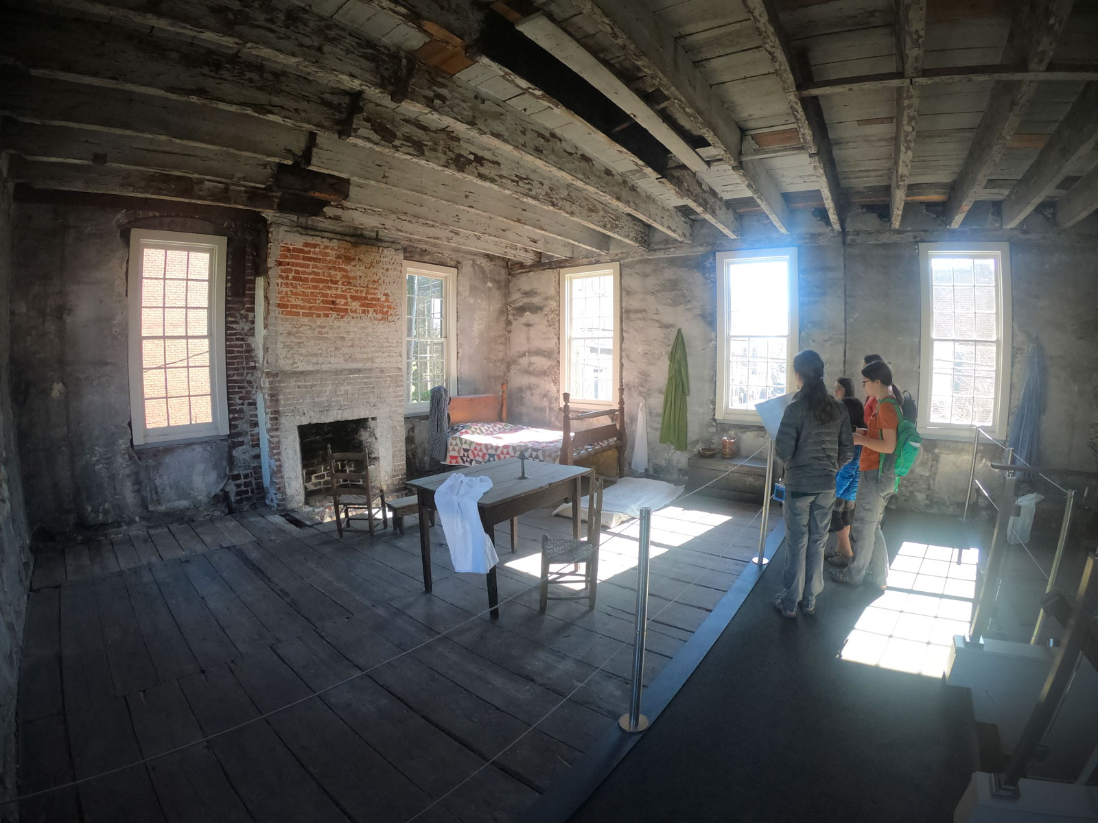 second story of slave quarters in the Owens-Thomas House & Slave Quarters in Savannah, Georgia