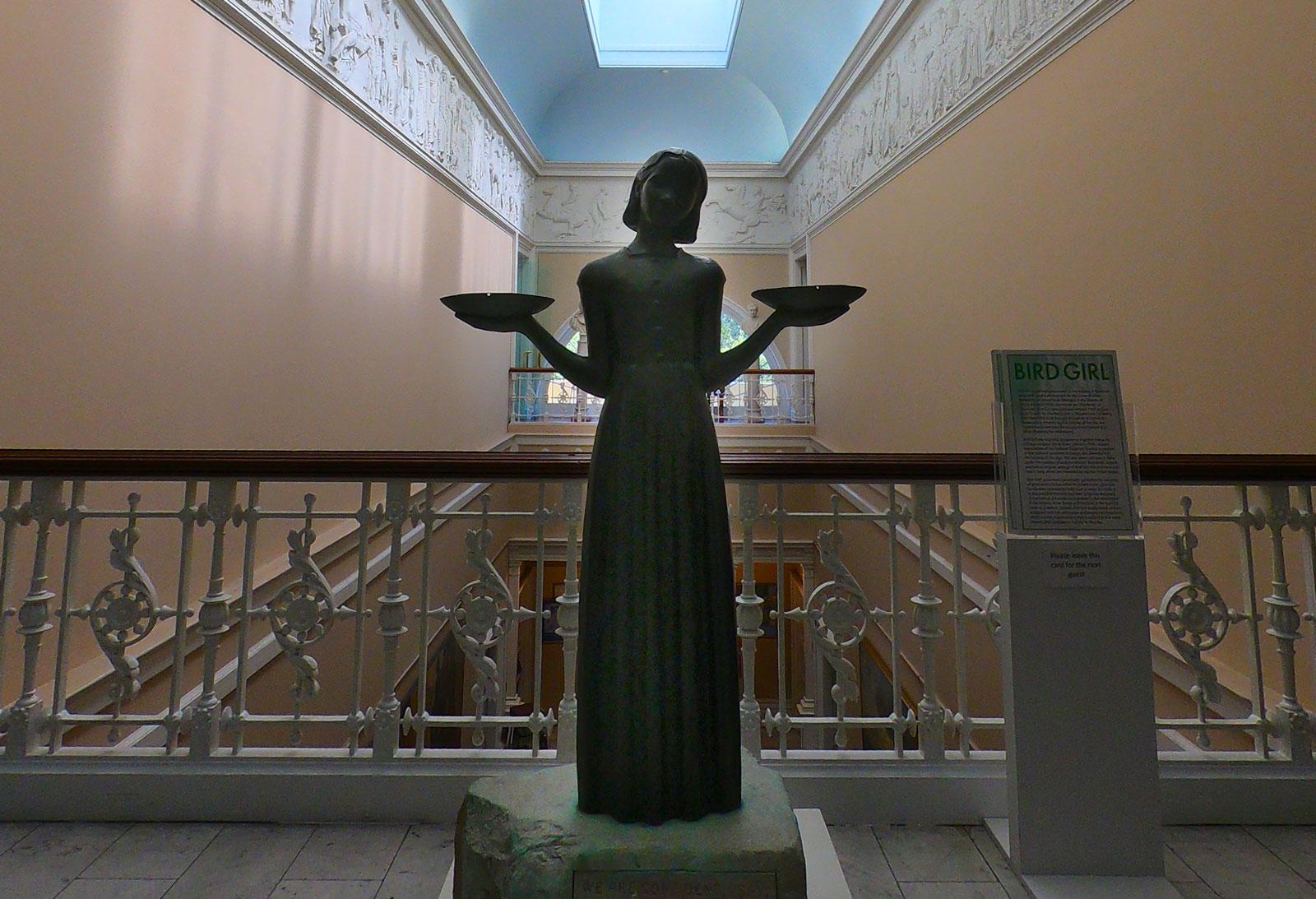 Bird Girl statue at the Telfair Academy in Savannah, Georgia
