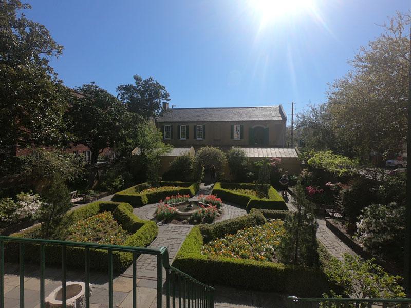 Courtyard garden of Owens-Thomas House & Slave Quarters in Savannah, Georgia