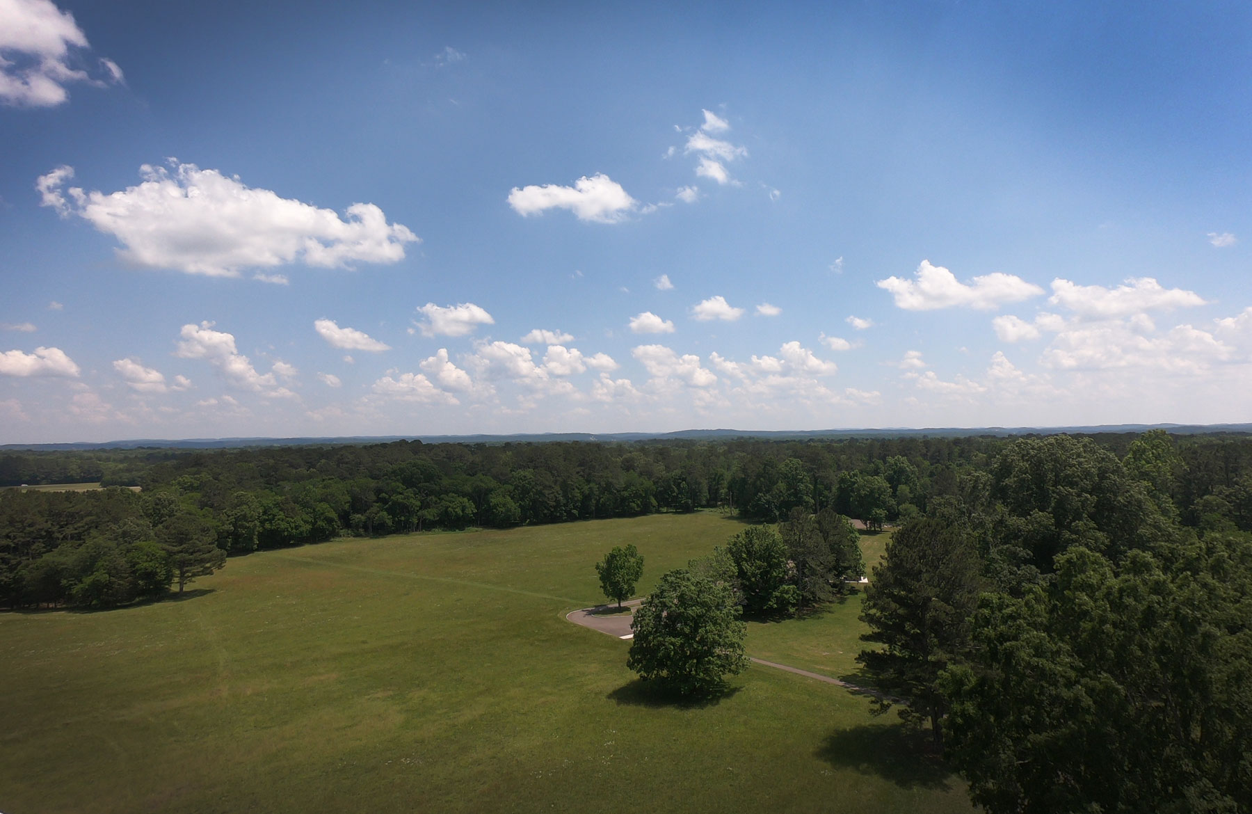 view from the top of the Wilder Brigade Monument Monument at Chickamauga Battlefield National Military Park, Georgia
