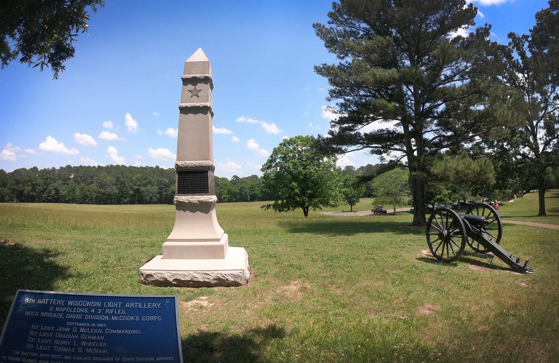 Monument at Chickamauga Battlefield National Military Park, Georgia