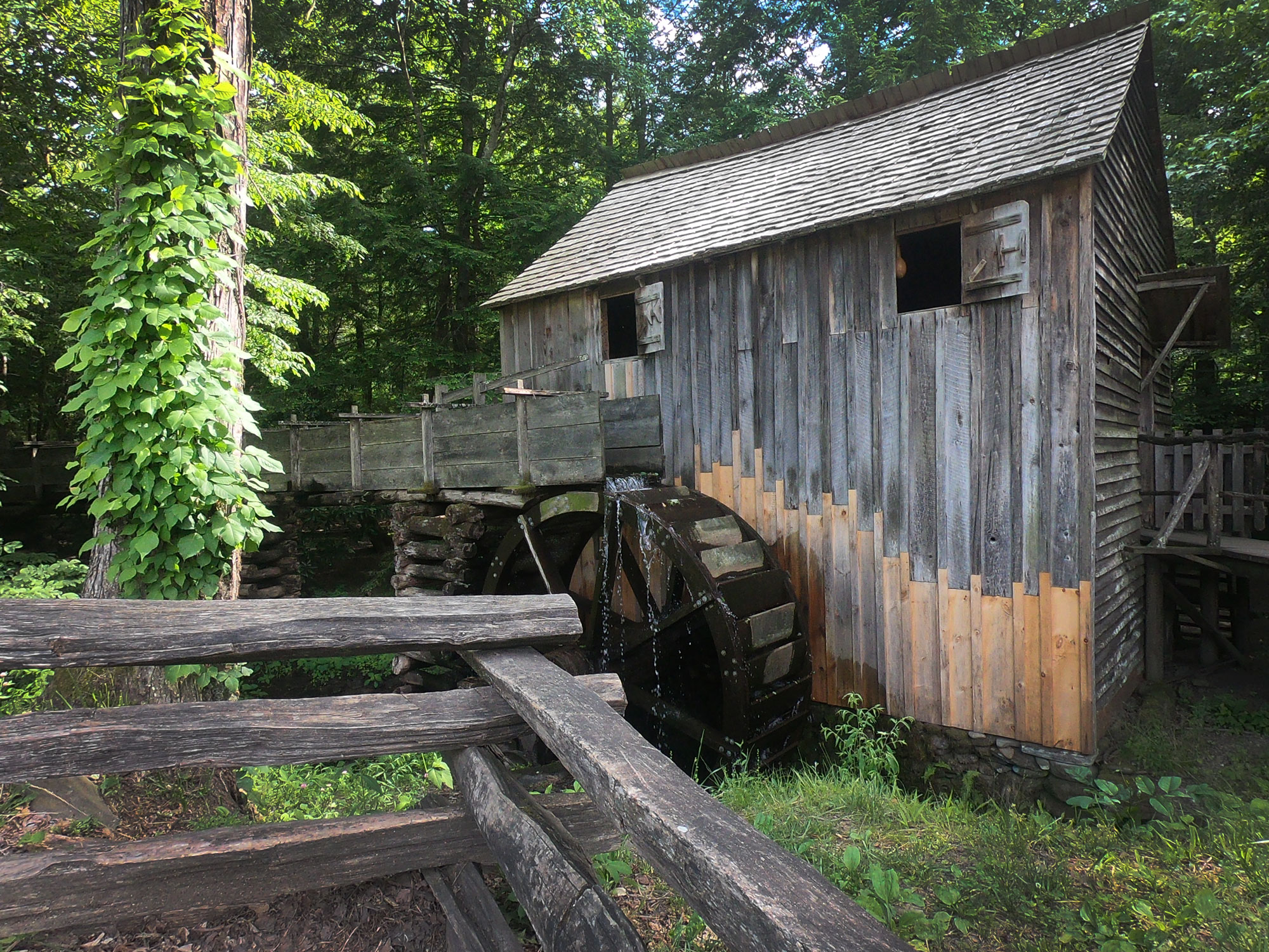 Cable Grist Mill in Cades Cove Loop in Great Smoky Mountains National Park, Tennessee