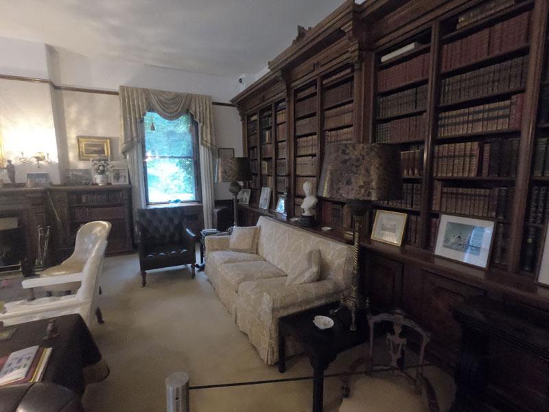 Library room at Marsh-Billings-Roosevelt National Park, Vermont