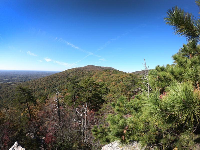 Overlook in Hanging Rock State Park, North Carolina