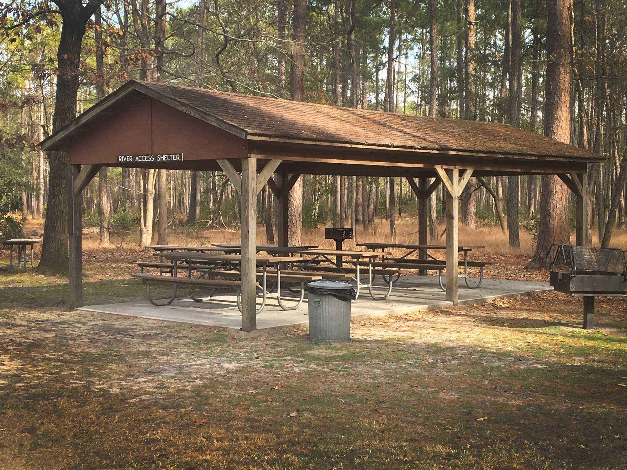 River Access Shelter at Goose Creek State Park, North Carolina