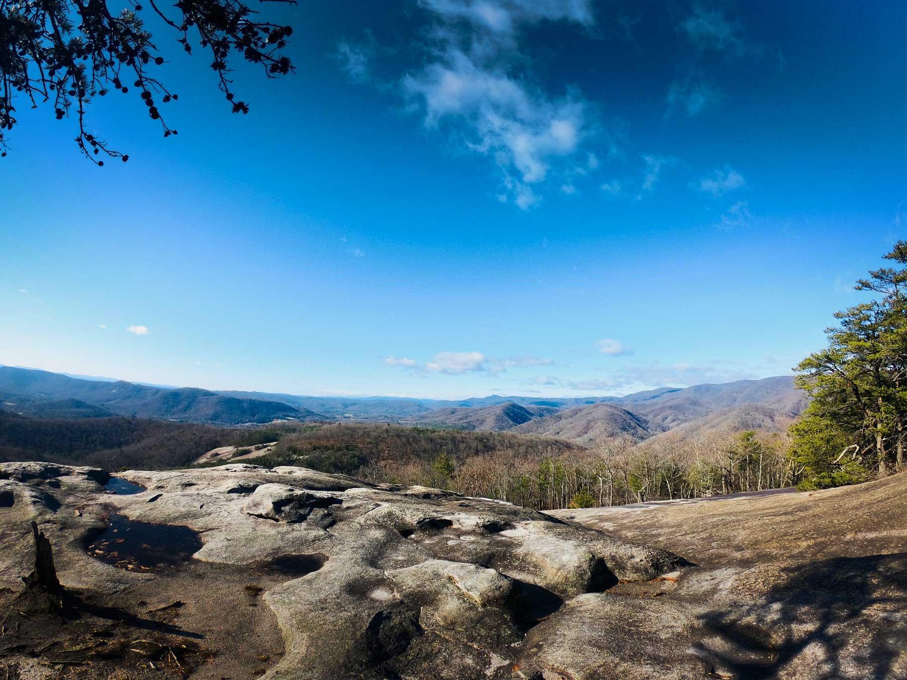 Stone Mountain Trail summit at Stone Mountain State Park, North Carolina