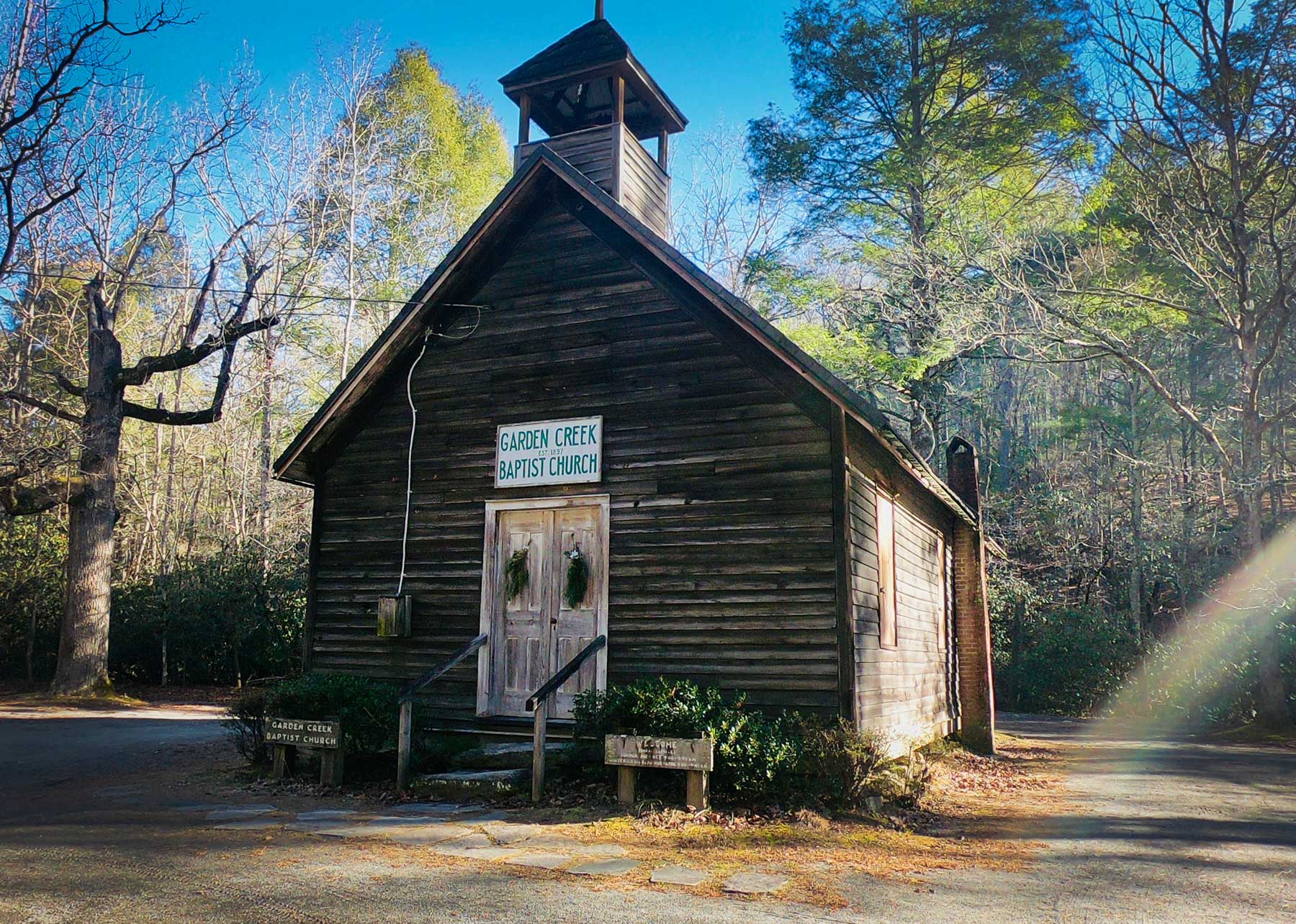 Historic Garden Creek Baptist Churchat Stone Mountain State Park, North Carolina