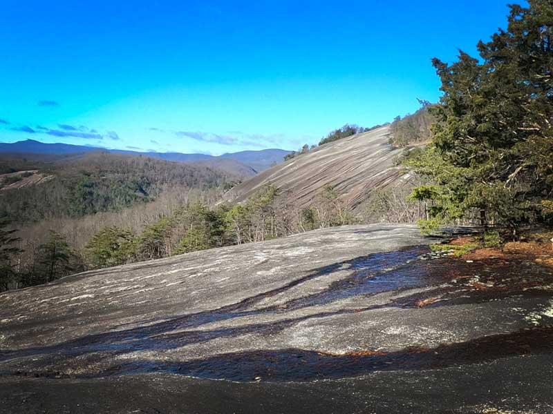 Stone Mountain summit view at Stone Mountain State Park, North Carolina