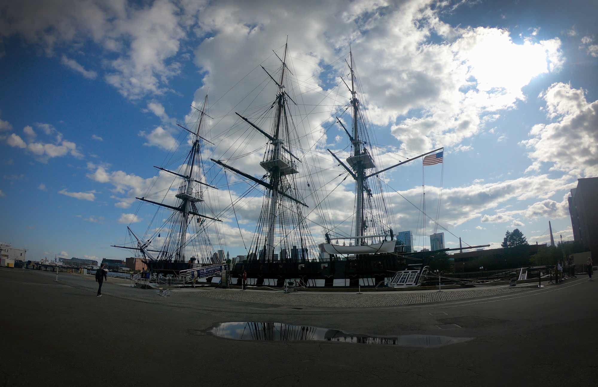 USS Constitution in the Charleston Navy Yard on the Freedom Trail in Boston, Massachusetts