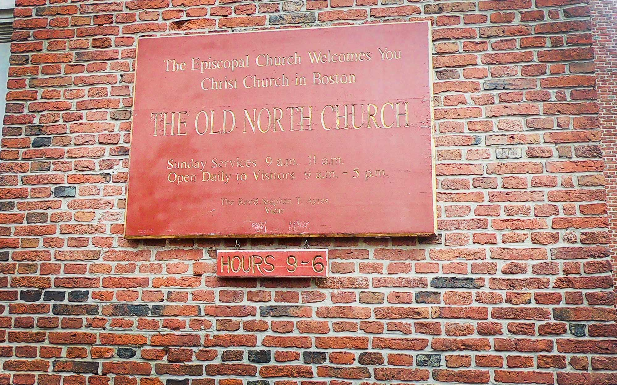 Exterior Old North Church along the  Freedom Trail in Boston, Massachusetts