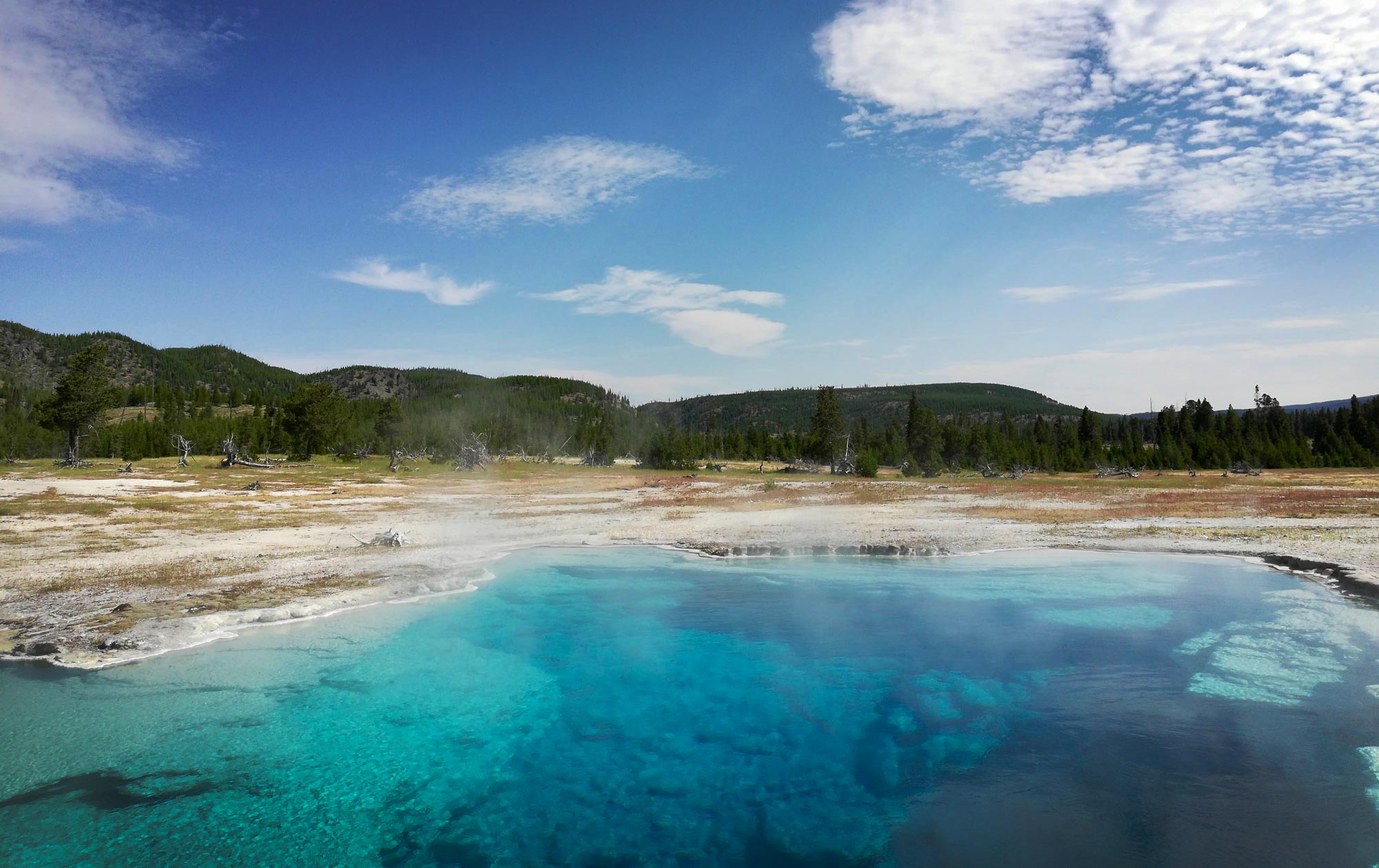 Sapphire Pool in Biscuit Basin in Yellowstone National Park