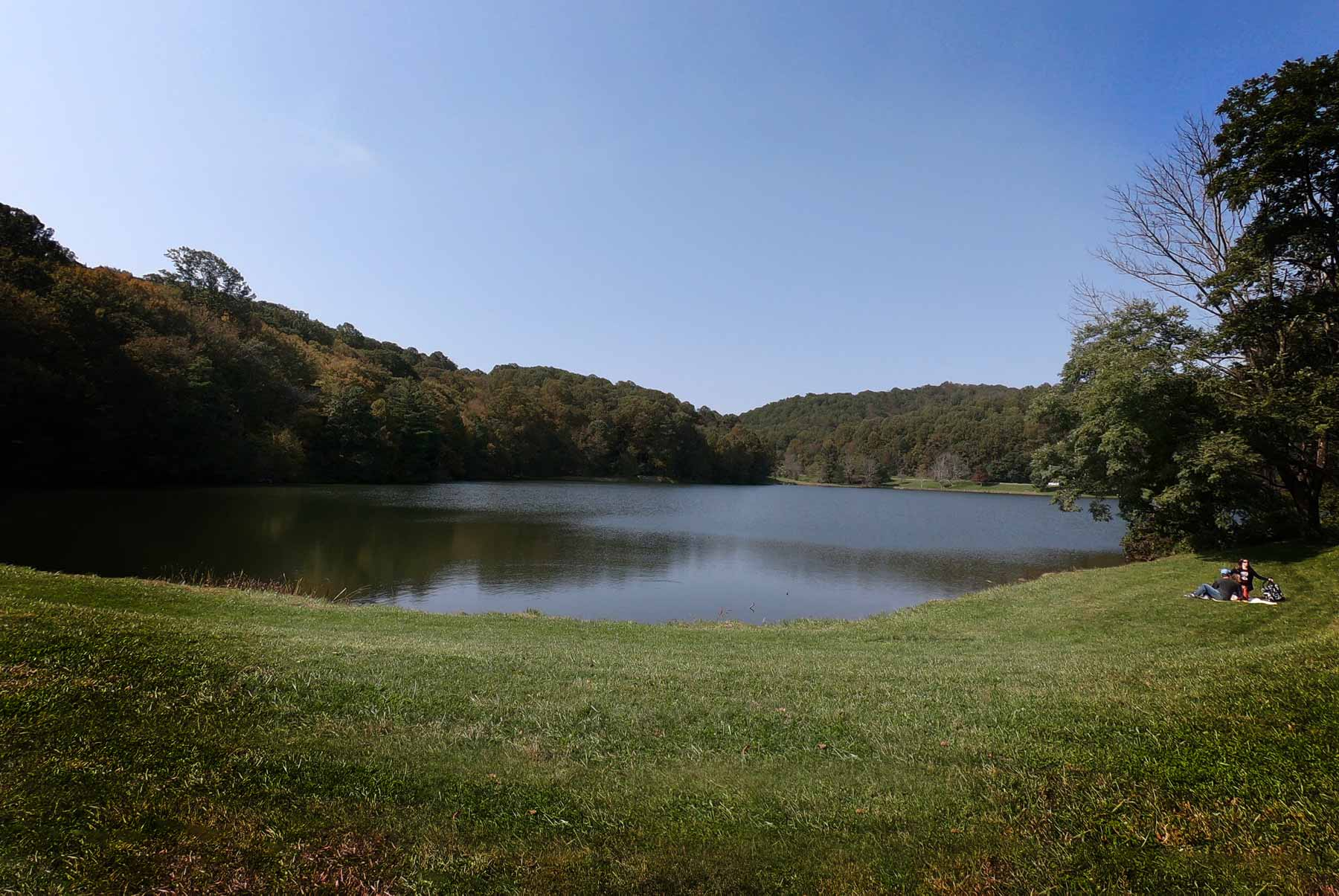 Abbott Lake at Peaks of Otter Historic Lodge off Blue Ridge Parkway, Virginia