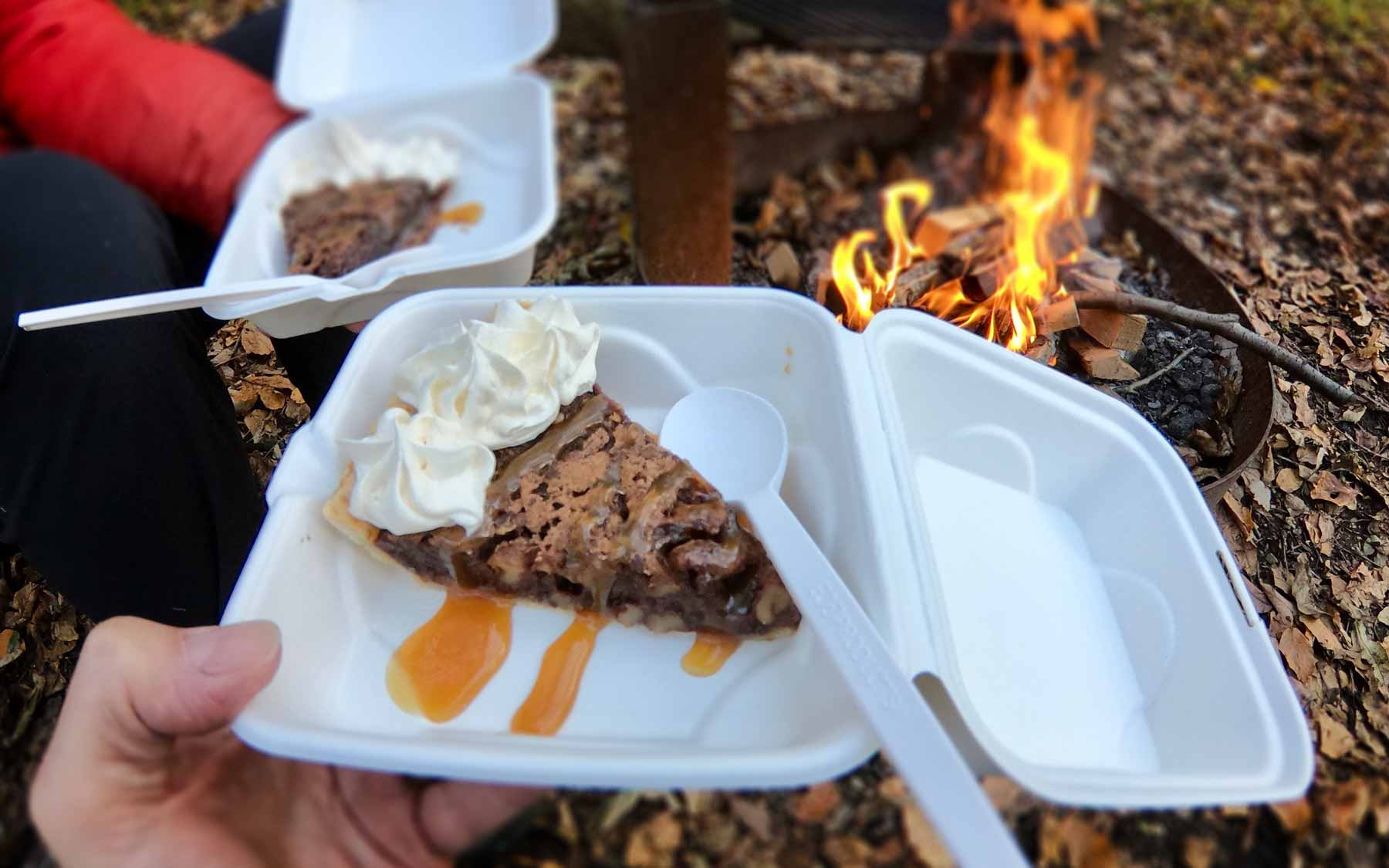 Bourbon-cream chocolate chess pie from Peaks of Otter Lodge, off Blue Ridge Parkway, Virginia