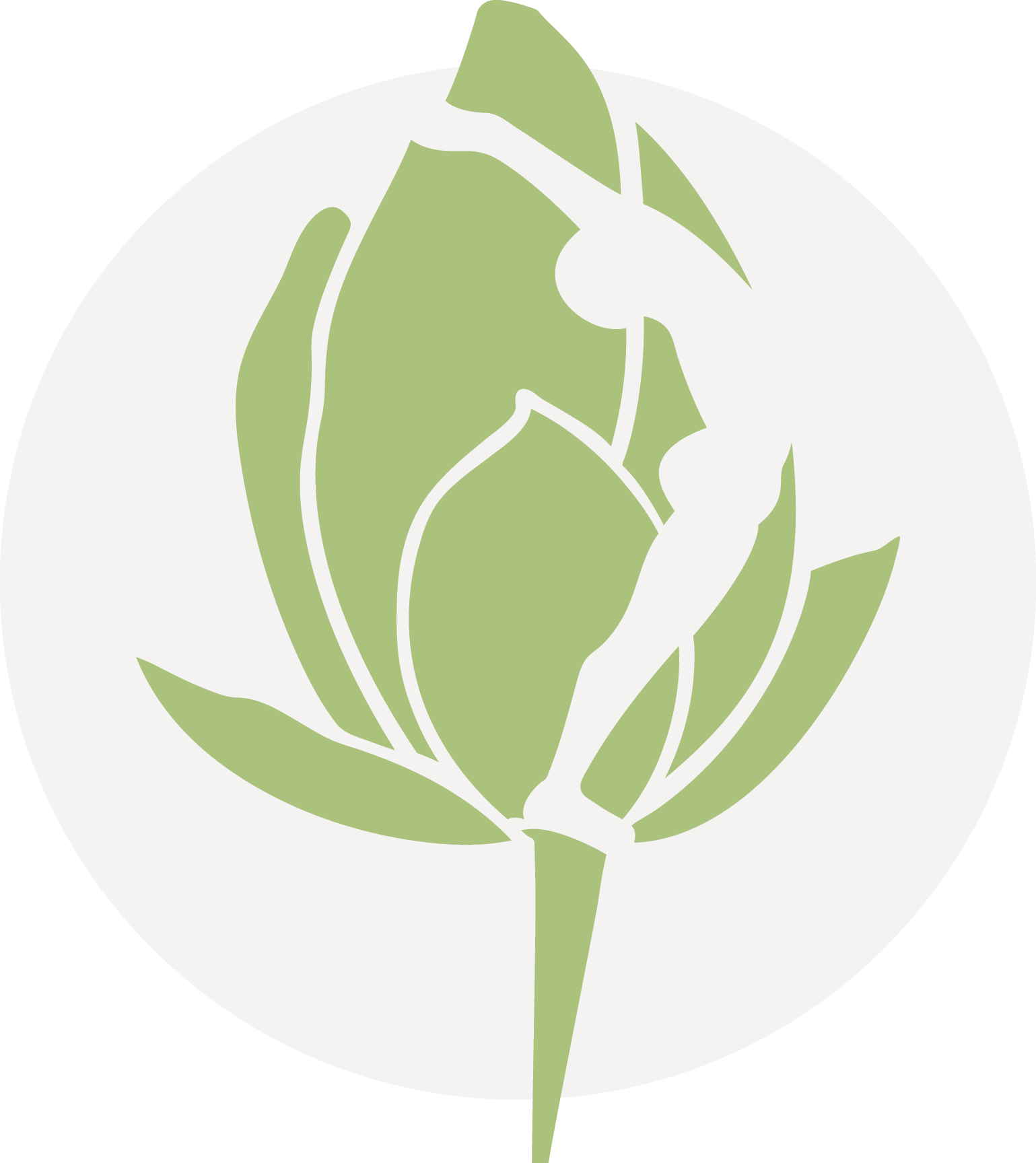 Yoga santosha icon green