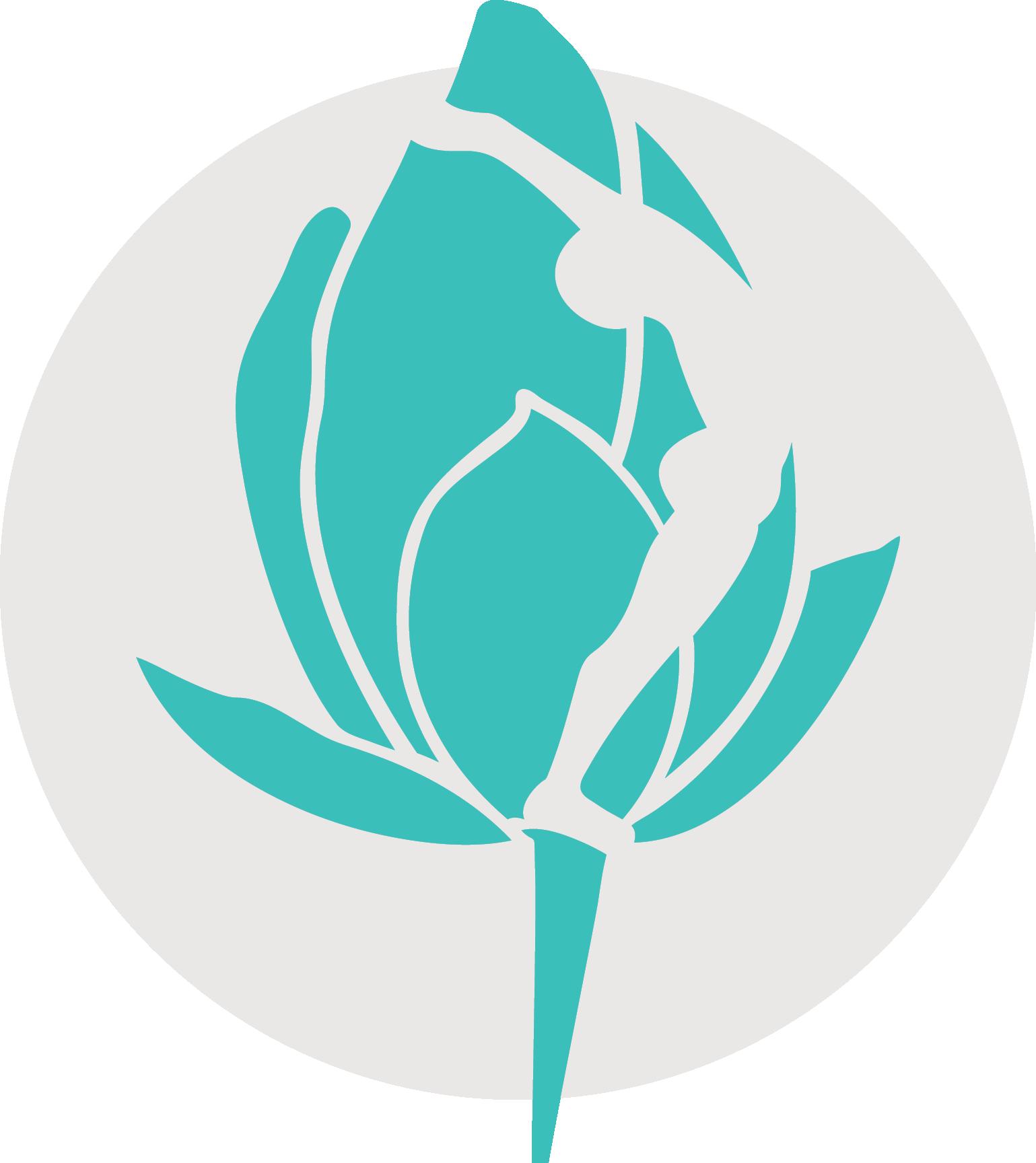 Yoga santosha icon teal
