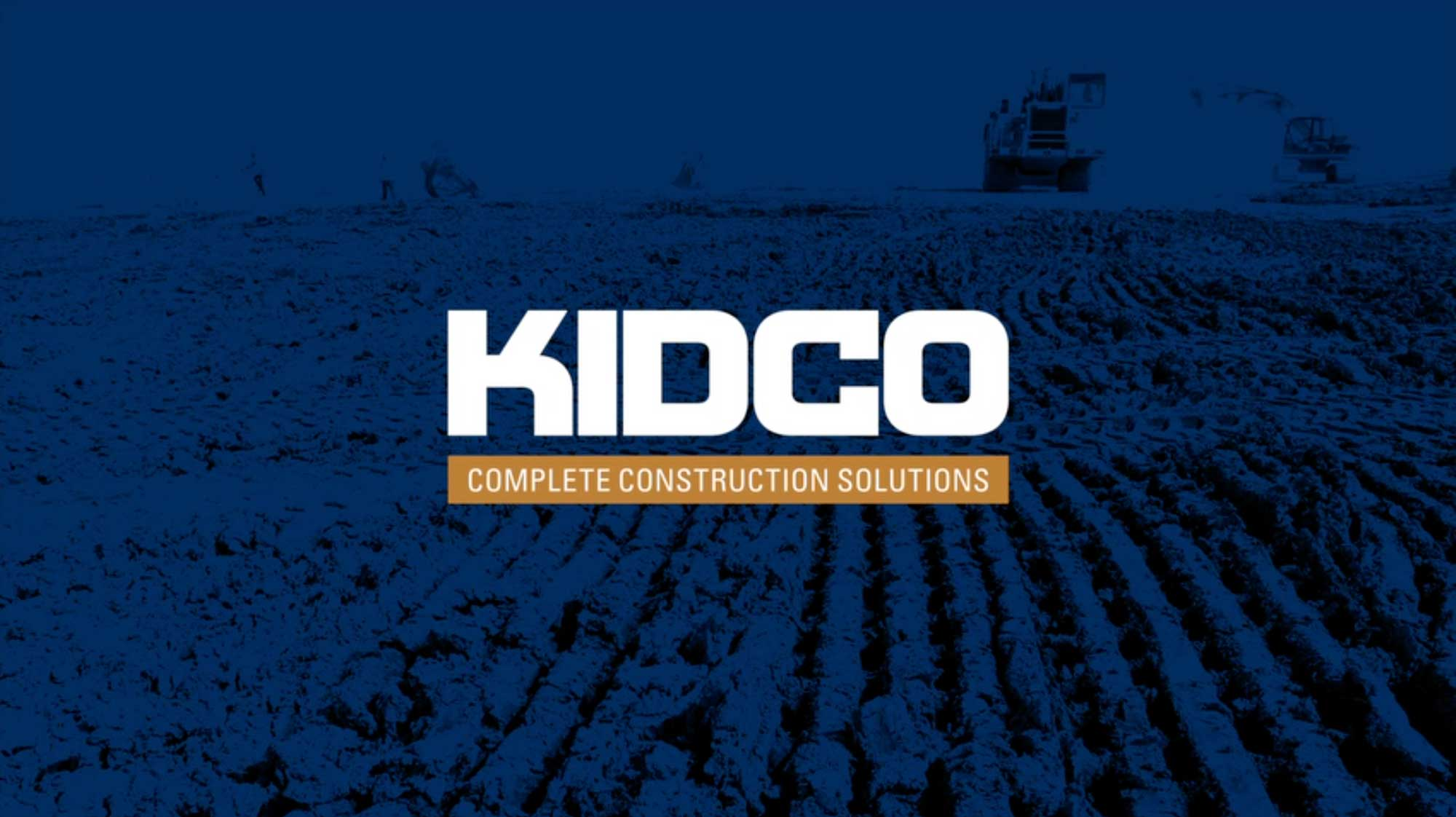 Corporate video production for Kidco Construction of rebrand designed by Studio Forum in Calgary