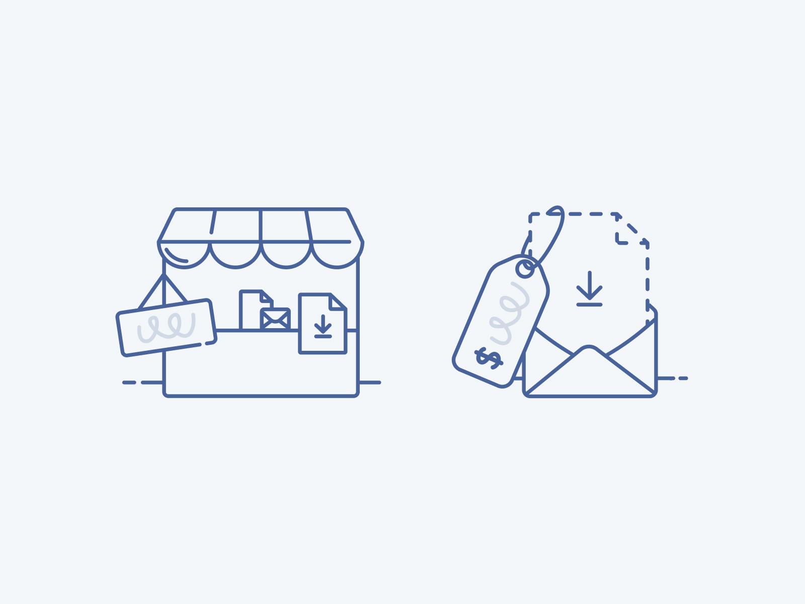 ConvertKit Commerce empty state illustrations