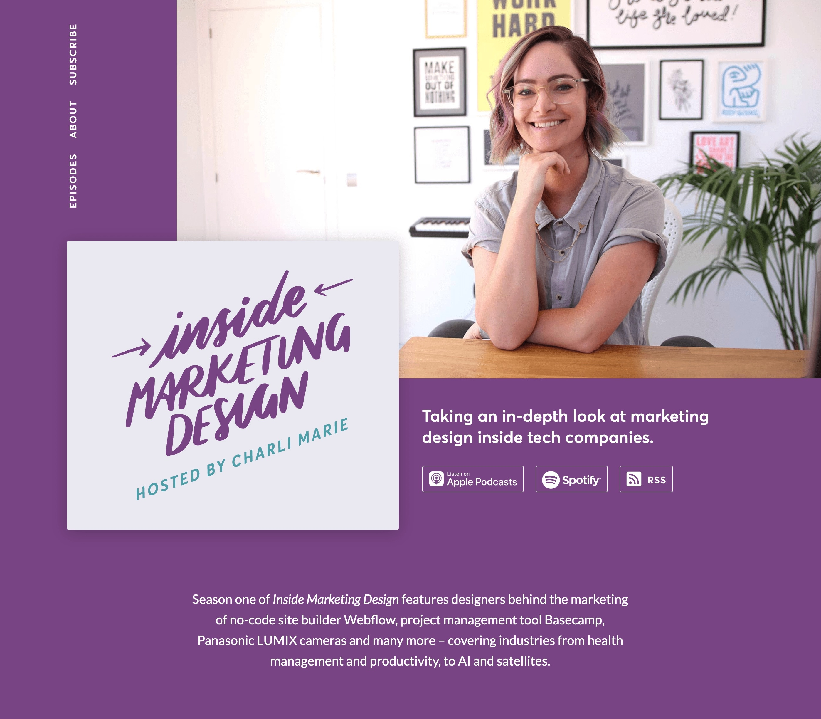 Screenshot of the Inside Marketing Design website