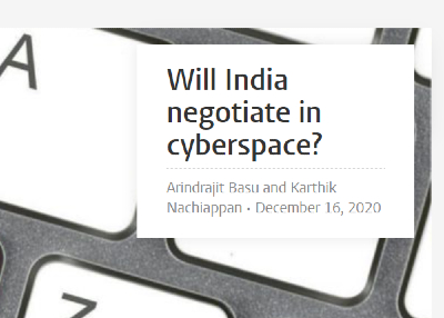 Will India Negotiate in Cyberspace?