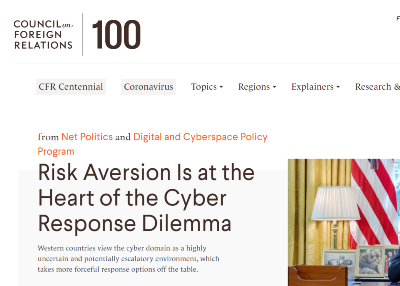 Risk Aversion Is at the Heart of the Cyber Response Dilemma | New Blog by Monica Kaminska