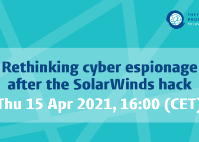 Recording Available for Rethinking cyber espionage after the SolarWinds hack