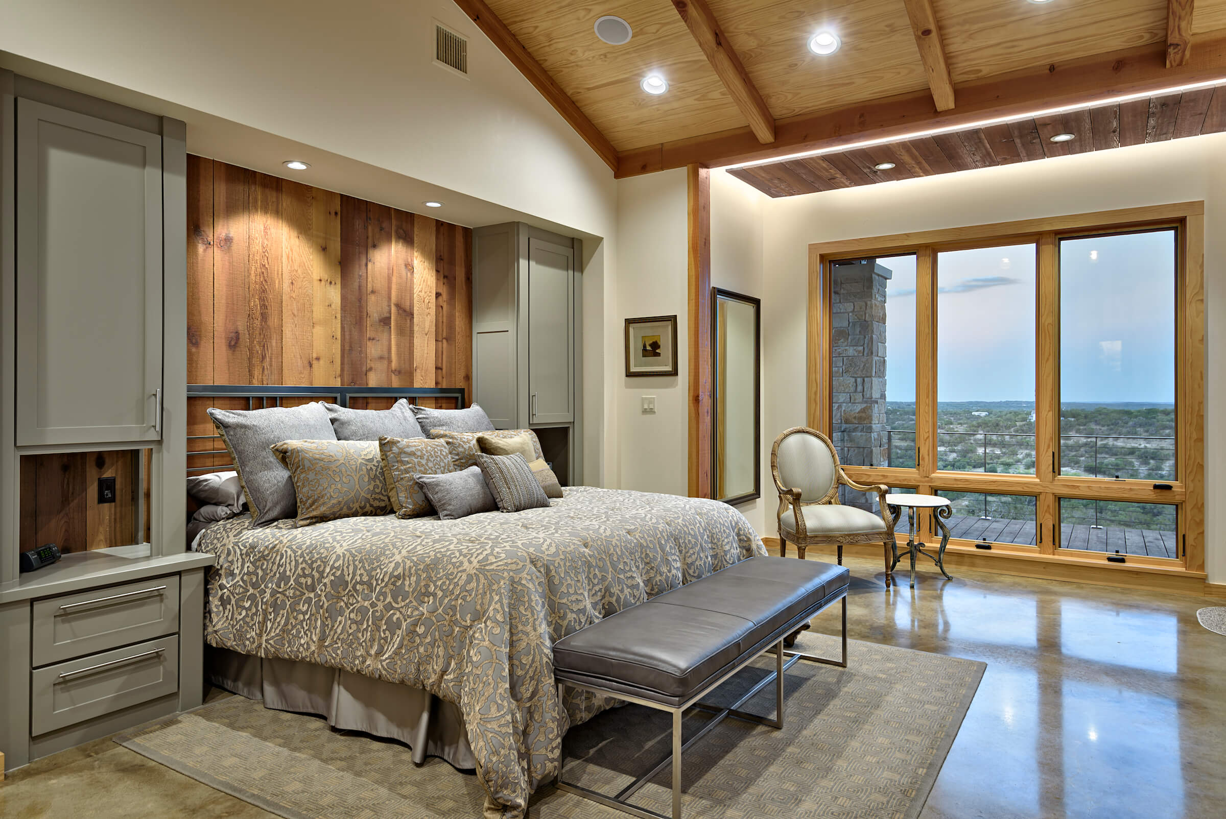 Hill country master bedroom