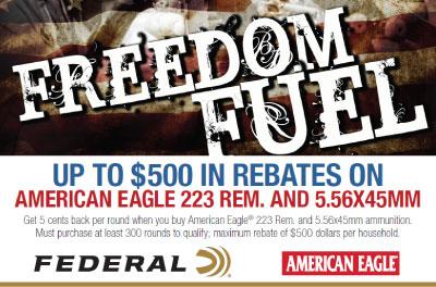 American Eagle Rebate >> Federal Ammo Rebates