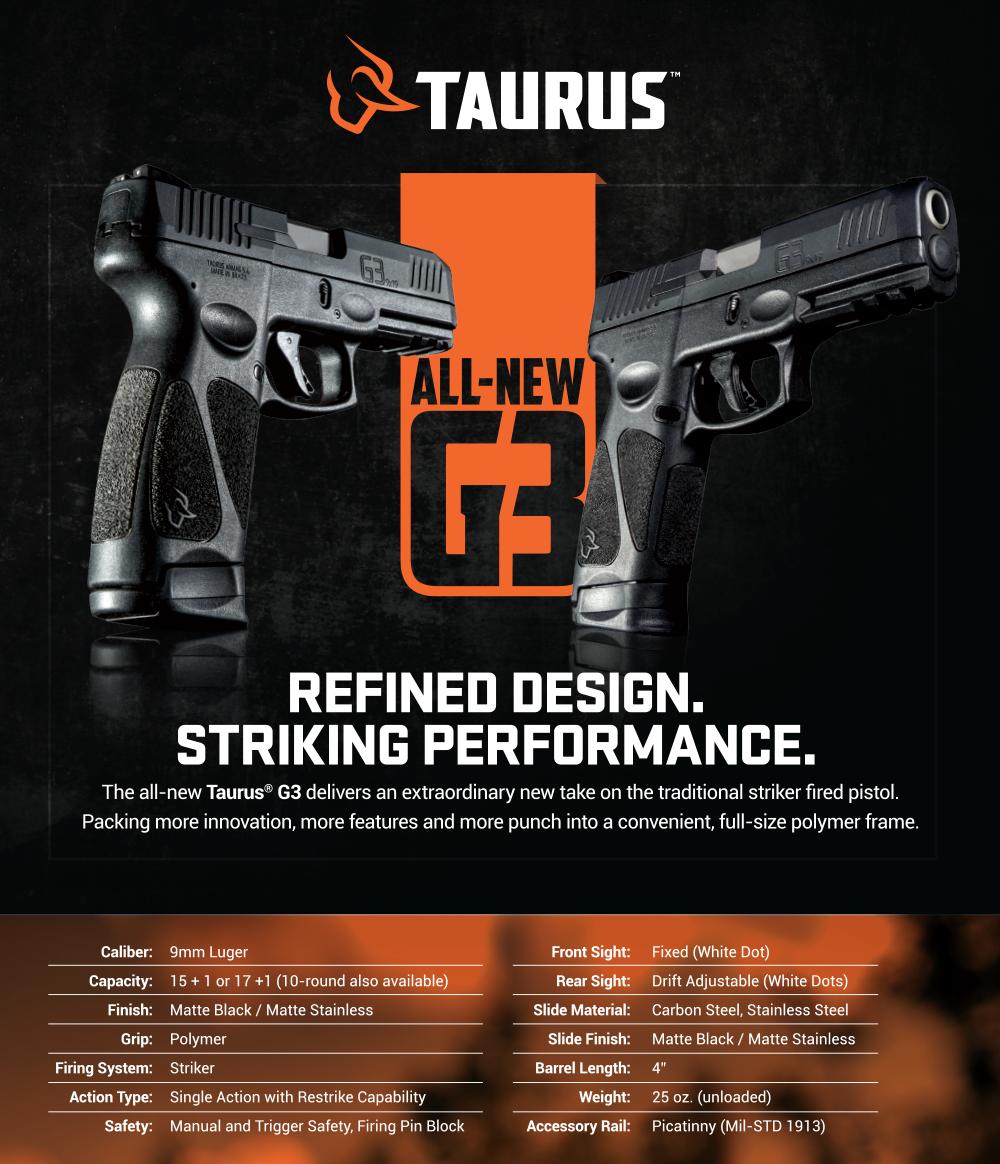 Taurus Announces G3 Pistol