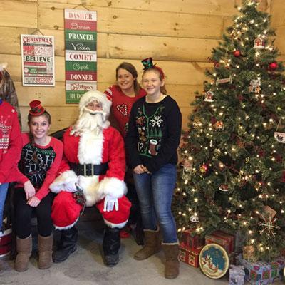 christmas photo at sugar house