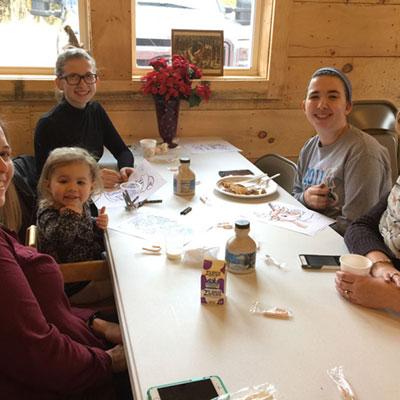 maple breakfast at sugar house