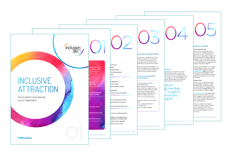 Tips on attracting a diverse talent pool fromtheInclusion 360 guidebook