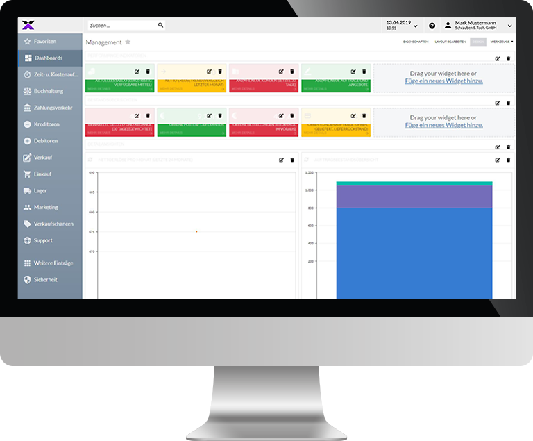 lexbizz ERP – CRM Dashboard