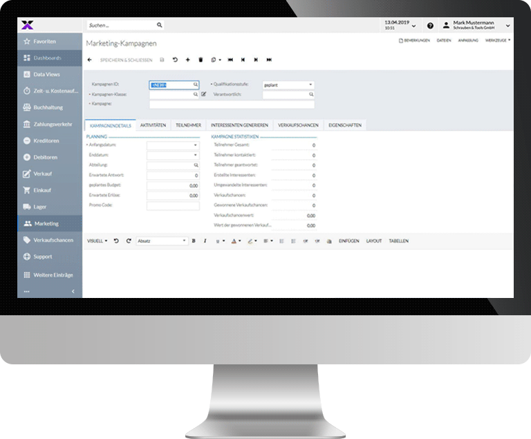 lexbizz ERP – CRM Kampagnenmanagement