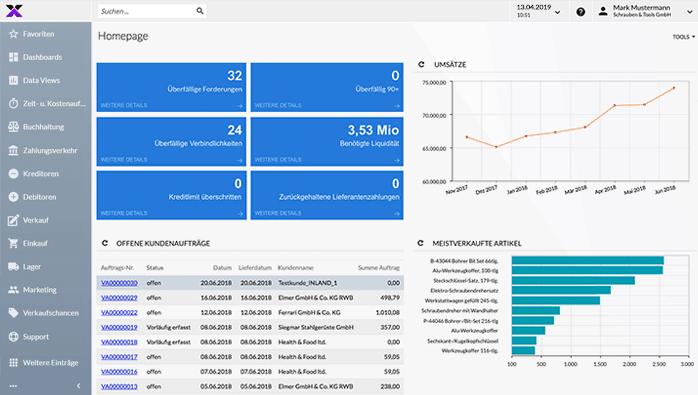 lexbizz ERP – Screen Homepage