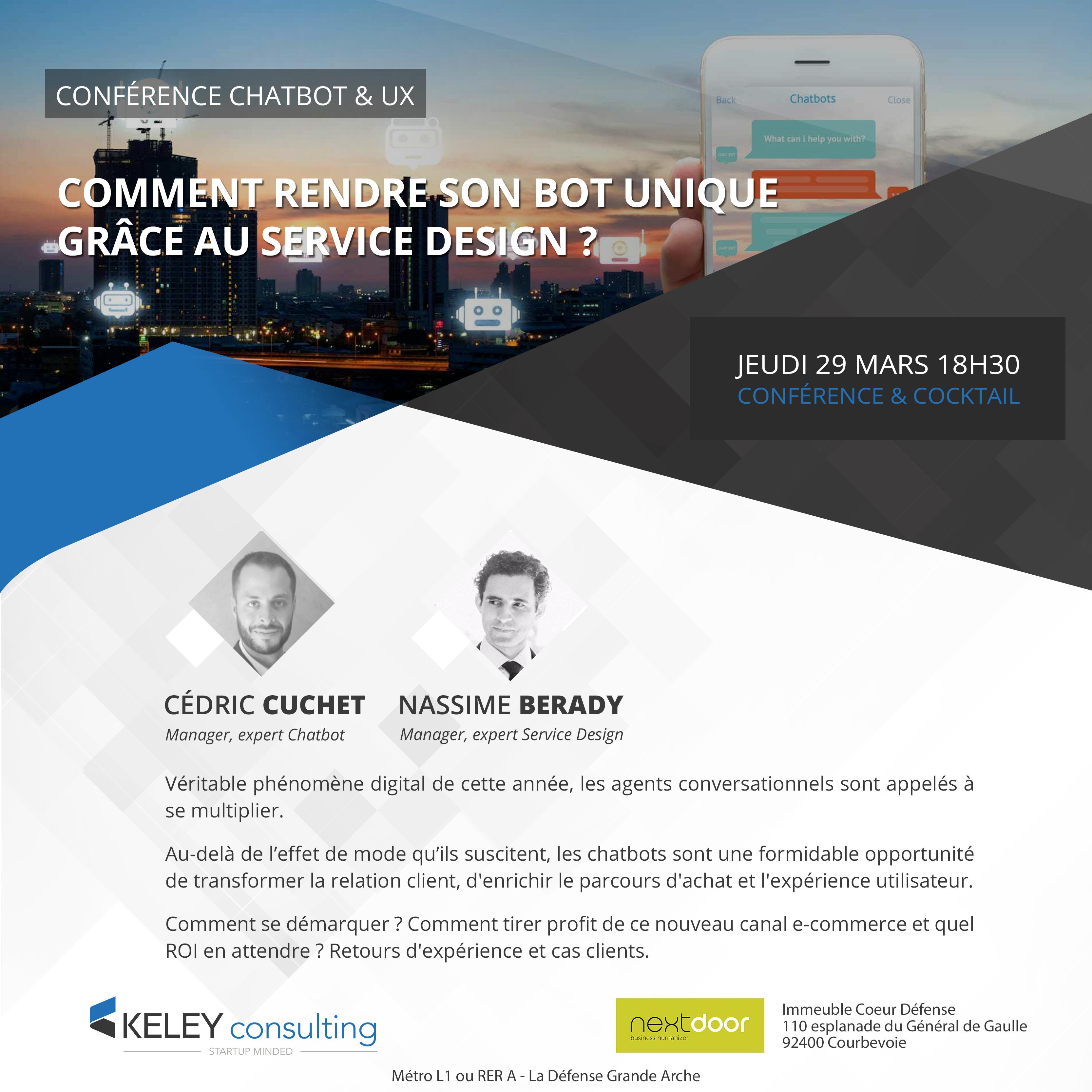 Conférence : Comment rendre son bot unique grâce au Service Design