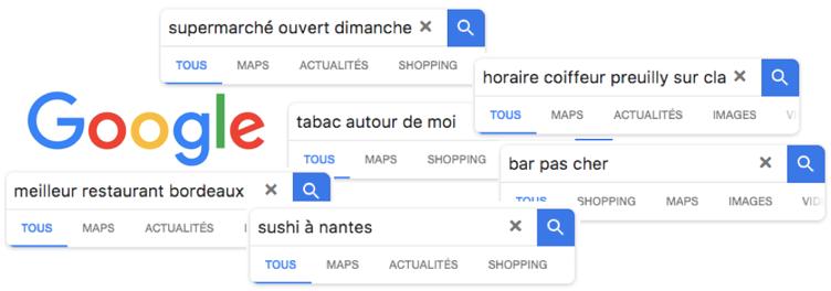 Capture de requêtes localisées de commerces sur Google