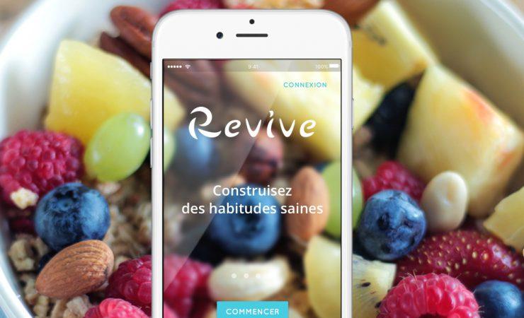 Conçue avec l'aide de médecins et de psychologues, Revive est une application ultra simple.