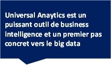 Universal Anaytics est un puissant outil de business intelligence et un premier pas concret vers le big data