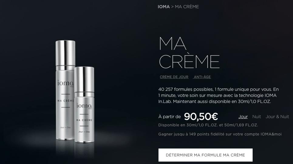 Image de la conception personnalisée de cosmétique par Ioma