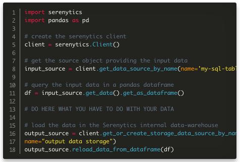 Édition de scripts Python