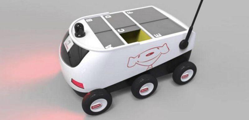 Image du robot livreur de JD.com