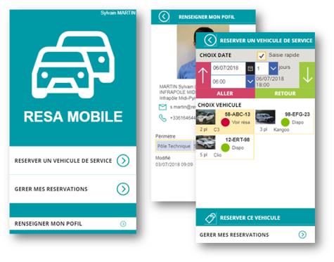 Exemple de low code pour automatiser un process pour réserver les véhicules au sein de l'entreprise
