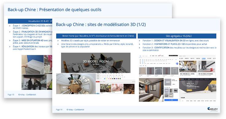 Extrait du benchmark des solutions d'aménagement 3D en Chine